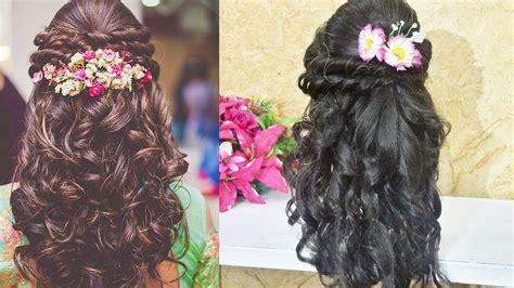 curly prom hairstyle  long medium hair indian wedding