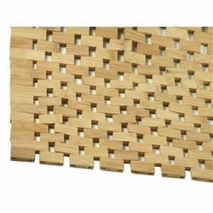 Tapis De Bain Bois : tapis salle de bain en bambou ~ Melissatoandfro.com Idées de Décoration