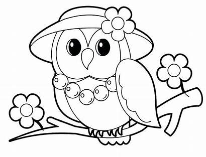 Coloring Animal Pages Owl Mrs