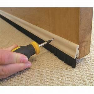 Wood Brush Door Bottom Strip Sweep Wooden Draught Excluder