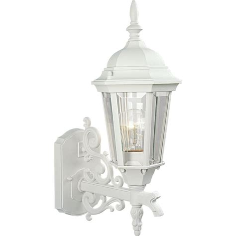 progress lighting welbourne collection 1 light 9 in outdoor textured white wall lantern