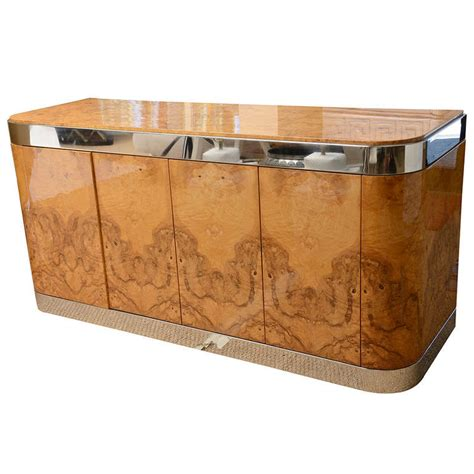 stainless steel credenza exquisite burled wood and stainless steel pace cabinet