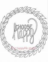 Coloring Pages Adults Simple Positive Adult Happy Choose Easy Words Colouring Printable Sheets Books Quotes Quote Motivational Printables Affirmation Drawings sketch template