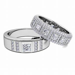 his and hers diamond wedding bands in platinum my love With his and hers wedding rings platinum