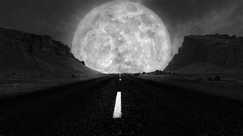 highway   supermoon  ultrahd wallpaper wallpaper