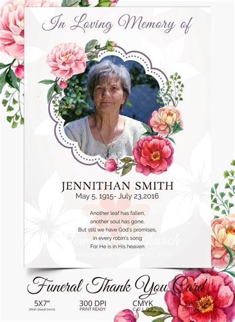Get started by clicking on a thank you card design, then click customize. 26+ Funeral Thank You Cards - PSD, AI, EPS | Free & Premium Templates