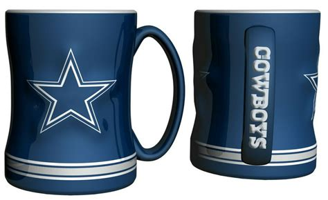 Design your everyday with american cowboy coffee mugs you'll love to add to your morning routine or at work. 1 Dallas Cowboys NFL Coffee Mug - 14oz Sculpted Relief - Blue   eBay
