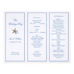 starfish tri fold wedding program template