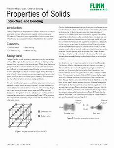 Properties Of Solids  Structure And Bonding U2014chemtopic U2122 Lab