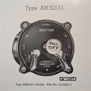 1946 Scintilla Ignition Switches An3213
