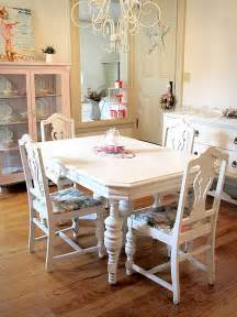 shabby chic dining room table and chairs shabby chic table panda s house
