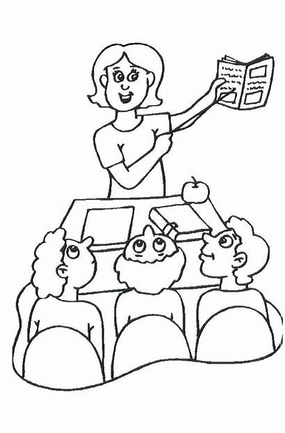 Teacher Drawing Coloring Pages Appreciation Teachers Thank