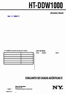 Sony Ht-ddw1000  Str-k1000p Service Manual