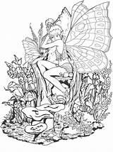 Coloring Fairy Fantasy Forbidden Adult Ausmalbilder Printable Adults Ausmalen Coloringsky Zum Feen Erwachsene Mandalas Sheets Malbuch Drawings Sky Fantacy Peppa sketch template