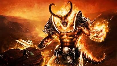 Devil Demon Fantasy Fiery Flames Wallpapers