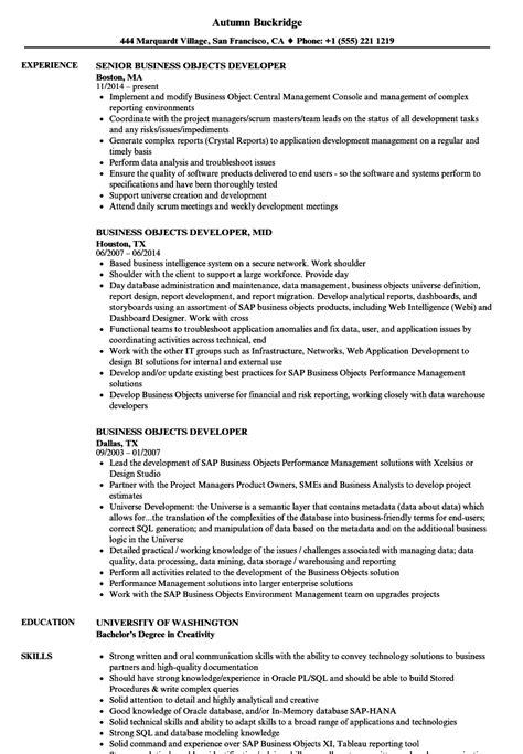 Business Objects Developer Resume Samples  Velvet Jobs. Post Resume On Craigslist. What Can I Put As An Objective On My Resume. Sample Personal Banker Resume. Phone Customer Service Resume. Latex Resume Format. National Honor Society Resume Example. Resumed Synonyms. Customer Service Professional Resume