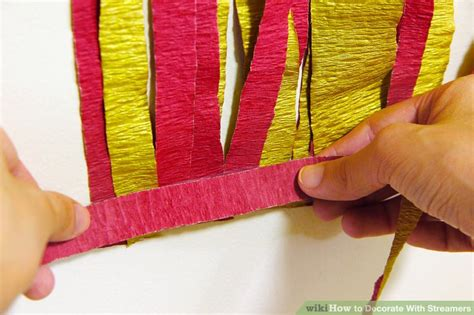 Decorating Ideas With Streamers by 5 Ways To Decorate With Streamers Wikihow