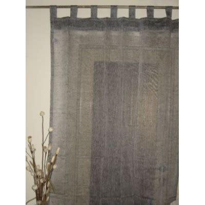 sheer grey linen tab top curtains