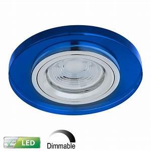 Led Einbaustrahler Glas : led einbaustrahler rund glas blau dimmbar 1x gu10 5w wohnlicht ~ Eleganceandgraceweddings.com Haus und Dekorationen