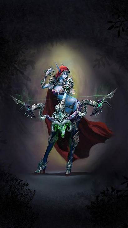 Warcraft Iphone Wow Wallpapers Sylvanas Phone Animated