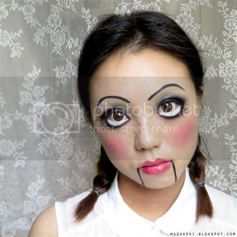 easy halloween makeup creepy cute doll madokeki makeup reviews tutorials  beauty