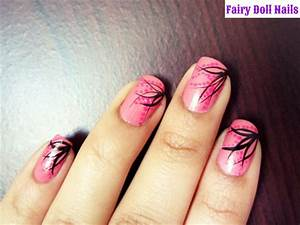 Pink and Black Nail Art - Nail Art Gallery