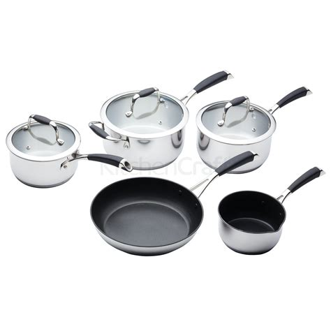 masterclass cookware frying deluxe stainless steel piece