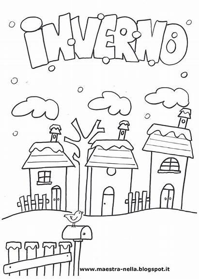 Scuola Inverno Disegni Maestra Infanzia Nella Dell