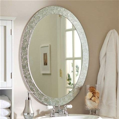 How To Frame An Oval Bathroom Mirror by 17 Best Ideas About Oval Bathroom Mirror On