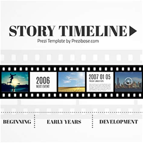 Timeline Template For Story by Roadmap Prezibase