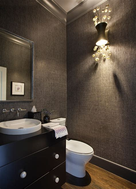 """Back Bay """"cool And Sexy""""  Contemporary  Powder Room"""