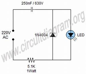 simple 220v mains indicator led circuit diagram With 230v blinking led
