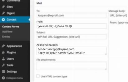 Form Email Wordpress Mail Headers Sending Header