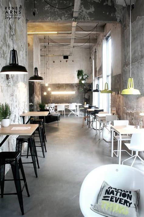 industrial cafe interior design places to go onder de leidingstraat Modern