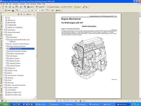 suzuki vitara and grand vitara workshop manuals