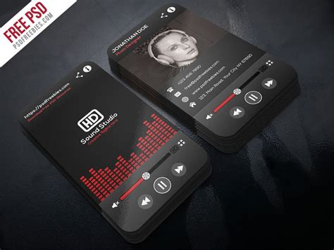 psd  player style business card template psd
