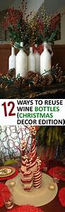 12, Ways, To, Reuse, Wine, Bottles, Christmas, Decor, Edition