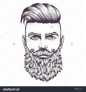 Full Beard Drawing | www.imgkid.com - The Image Kid Has It!