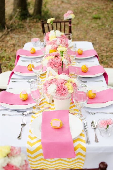 easy pink  yellow bridal shower ideas   recreate