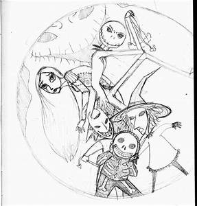 Nightmare Before Christmas Characters Coloring Pages - AZ ...