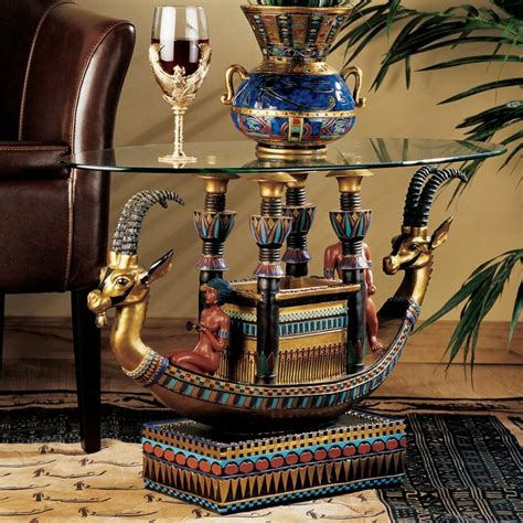 design toscano egyptian barge    coffee table