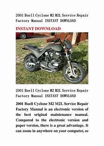 2001 Buell Cyclone M2 M2l Service Repair Factory Manual