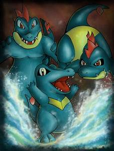 Totodile Evolution By Jouoloioa On Deviantart