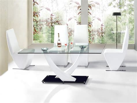 meuble de cuisine en inox table de salle a manger niko blanc verre table repas