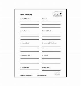 goal chart template 9 free sample example format With setting life goals template