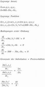 Nutzenfunktion Berechnen : lagrange nutzenfunktion u x1 x2 12 x1 3 x2 2 5 mathelounge ~ Themetempest.com Abrechnung