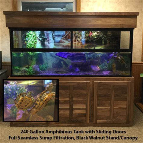 land and water aquarium hibious aquariums custom aquariums