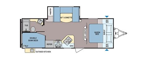 Coleman Travel Trailers Floor Plans by New 2017 Coleman Coleman Cts244bhwe Travel Trailer For