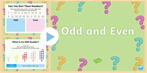Ks1 Odd And Even Powerpoint  Odd, Even, Odd Numbers, Even
