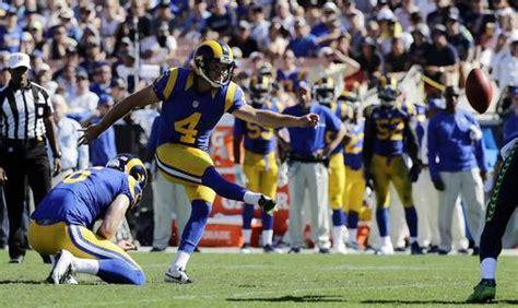 touchdown  rams beat seahawks    zuerleins leg